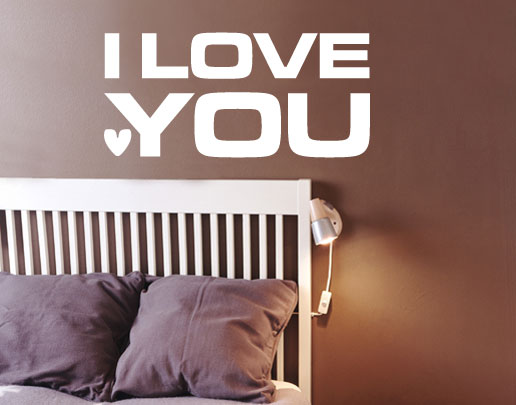 wandtattoo i love you. Black Bedroom Furniture Sets. Home Design Ideas