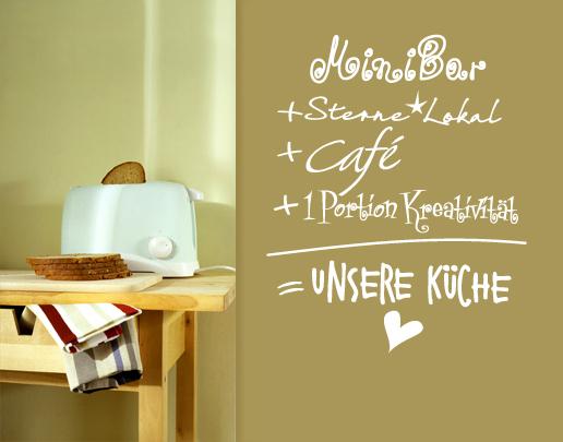 Wandtattoo kuche unsere kuche als wandtattoo spruch for Wandtatoo küche