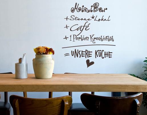 Wandtattoo Küche - Unsere Küche: als Wandtattoo Spruch