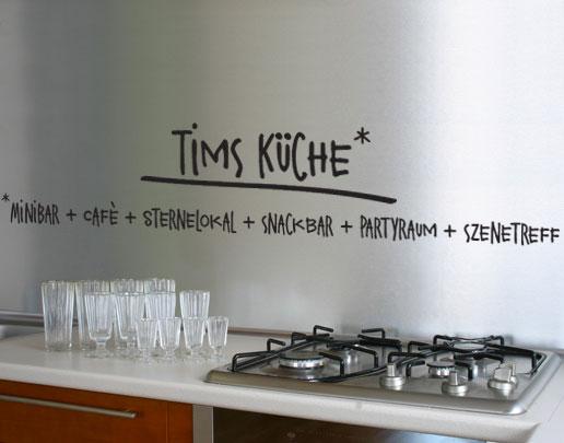 Wandtattoo kuche inkl wunschtext wandtattoo fur kuche for Küche wandtattoo