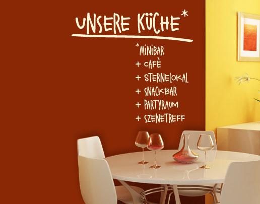 Wandtatoos für die küche  Wandtattoo Küche inkl. Wunschtext: Wandtattoo für Küche