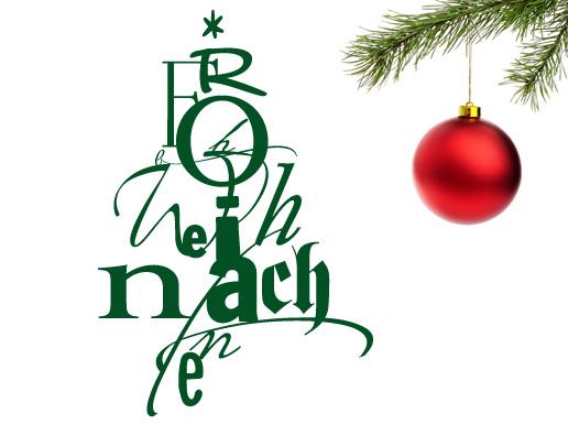 Wandtattoo frohe weihnachten for Wandtattoo weihnachten