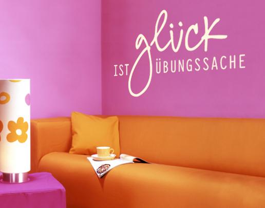 wandtattoo gl ck ist bungssache sch ne wandspr che. Black Bedroom Furniture Sets. Home Design Ideas