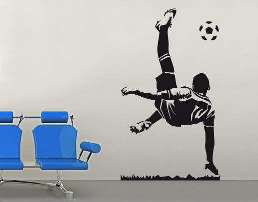 Wandtattoo Fußball Fallrückzieher