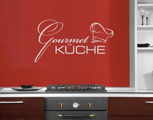 wandtattoo gourmet k che f r die genie er. Black Bedroom Furniture Sets. Home Design Ideas