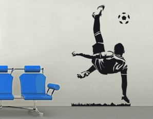 Wandtattoo Fußball-Fallrückzieher