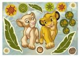 Wandsticker Simba und Nala