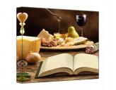 Leinwandbild Mediterrane Küche quadratisch
