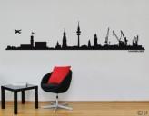 Wandtattoo Hamburg Skyline