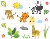 Wandsticker Safari-Dschungel