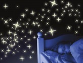 Wandtattoo Leuchtaufkleber-Set Sterne 4-zackig