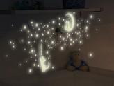 Wandtattoo Leuchtaufkleber Nachtkatzen