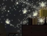 Wandtattoo Leuchtaufkleber Glühwürmchen