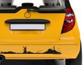 Autoaufkleber Skyline Friesland Silhouette