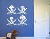 Wandtattoo Piratencrew