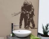 Wandtattoo Feuerwehr-Männer