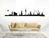 Wandtattoo Hamburg Skyline mit Elbphilharmonie