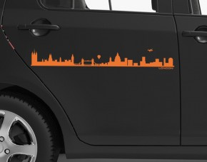 Autoaufkleber Skyline London