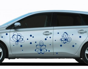 Autoaufkleber Atomic Flowers