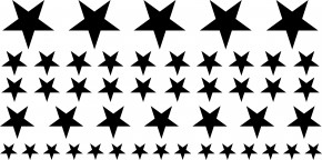 Autoaufkleber Sterne-Set