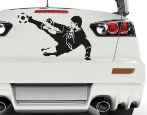 Autoaufkleber Fußball-Volleyschuss