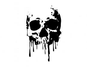 Autoaufkleber Skull Blood Totenkopf