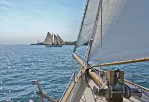 Fototapete Segeln auf dem Meer
