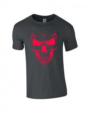 T-Shirt Skull Totenkopf Biker Rocker grau