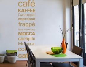 Wandtattoo Kaffee Latte