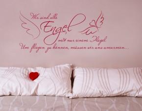 Wandtattoo Wir sind alle Engel