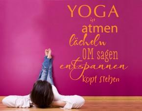 Wandtattoo Yoga