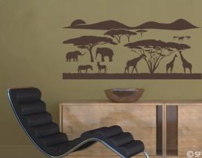 Wandtattoo Afrika Savanne