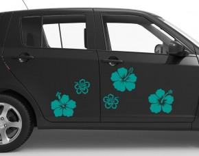 Autoaufkleber Hibiskus-Blüten