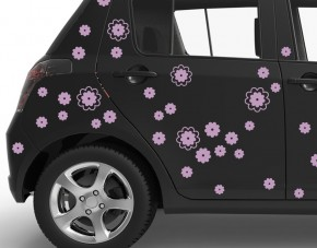 Autoaufkleber Streublümchen