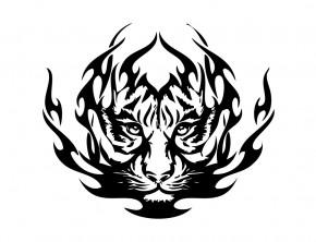 Autoaufkleber Tribal Löwe