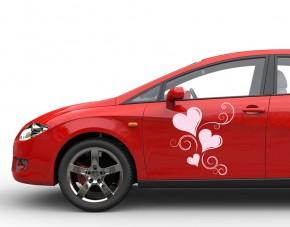 Autoaufkleber Herzen