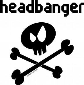 Autoaufkleber Metal-Kids Headbanger