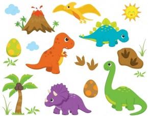 Wandsticker Lustige Dinos