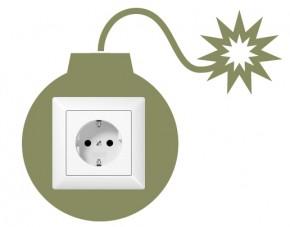 Steckdosentattoo Bombe 2