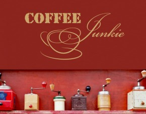 Wandtattoo Coffee Junkie