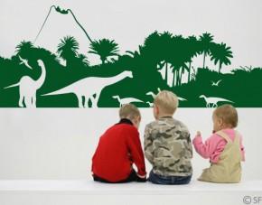 Wandtattoo Dinosaurier-Wald