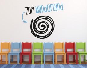 Wandtattoo Wunderland 2-farbig