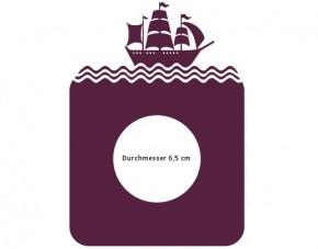 Steckdosentattoo Segelschiff