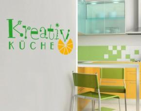 Wandtattoo Kreativ-Küche 2-farbig