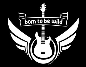 Wandtattoo Metal-Kids Born to be wild
