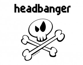Wandtattoo Metal-Kids Headbanger Inverse