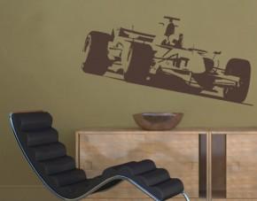 Wandtattoo F1 Rennwagen