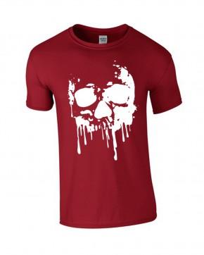 T-Shirt rot Skull Totenkopf Blood