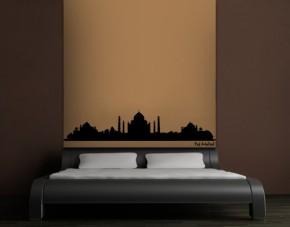 Wandtattoo Skyline Taj Mahal