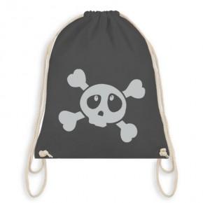 Turnbeutel Anthrazit Kinder Totenkopf Skull